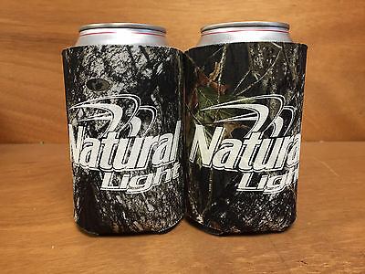 Natural Light Natty Real Tree Camo Beer Can Bottle Koozie Cooler New F/S -  2 Pk