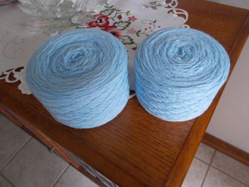 Baby blue yarn acrylic 10.2 oz. for hand or machine knitting.
