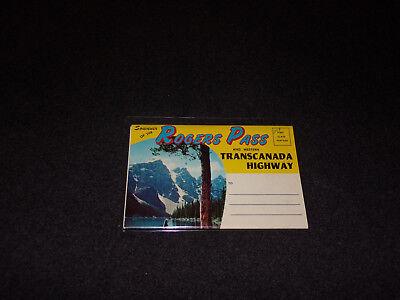 1960S Postcard Folder Rogers Pass   Western Transcanada Highway Canada
