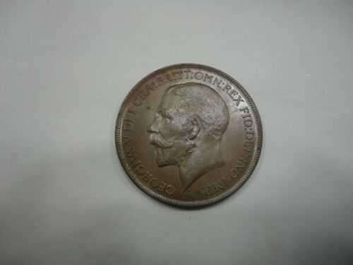 Great Britain 1922 George V Penny R&B Uncirculated KM 810
