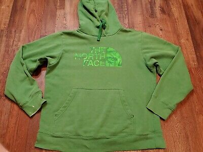 THE NORTH FACE Green Camo Logo Men's Hoodie Sweatshirt Size: Men's Large