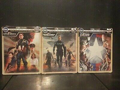 CAPTAIN AMERICA TRILOGY MARVEL STEELBOOK (4K UHD+ BLU-RAY+DIGITAL) BEST BUY (Best Sci Fi Trilogies)