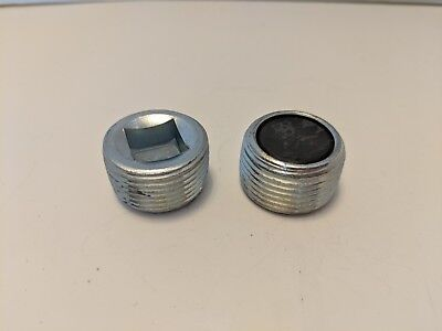 A133 Lot Of 2 Lisle Magnetic Pipe Plugs 34 Npt 12 Square Drive Steel New