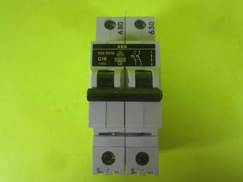 AEG Circuit Breaker -- Elfa E82S C16 -- Used