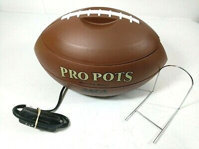 Pro Pots Football Slow Cooker Crock Pot Dip Warmer 1.5 QT Nacho Salsa Chip Party
