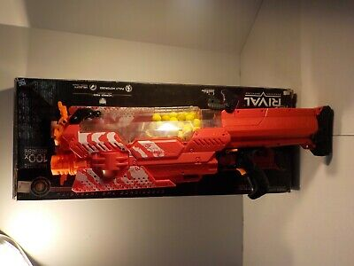 N Hasbro Nerf Rival Nemesis MXVII-10K - Red Excellent w Box Ammo Works