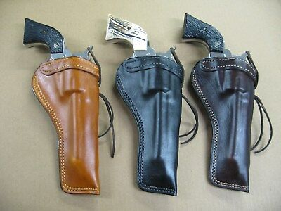 Action Belt (AZULA Leather Molded Single Action Revolver Belt Holster For..Select Gun Model)