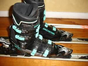 Full Mens Ski Set CarvingSkis170cm DachsteinBoots Poles Mens Sz 10