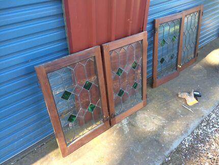 Lead Light Kitchen Cupboard Doors