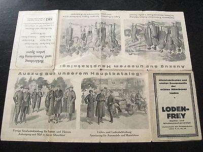 alter Plan von München Werbung von LODEN-FREY um 1930