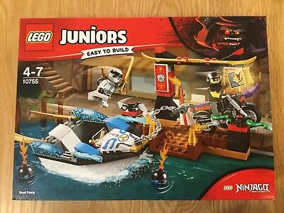 LEGO Juniors Ninjago Movie 10755 Zane's Ninja Boat Pursuit - NEW & SEALED