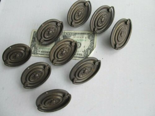 Lot of 9 Early Antique Furniture Escutcheon Plates, c1850