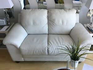 Divan causeuse sofa 2 places blanc