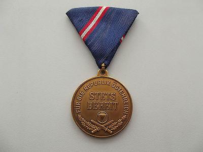 (A24-X007)  Österreich Bundesheer Wehrdienstmedaille in Bronze