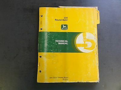 John Deere 330 Round Baler Technical Manual Tm-1384