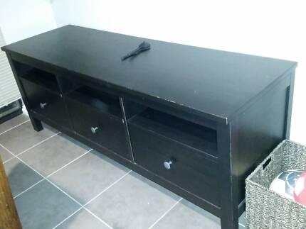 IKEA HEMNES TV bench, black-brown,148x47 cm