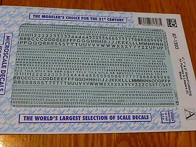 """Microscale Decal HO  #87-1303  4"""", 7"""" & 8"""" Stencil Lettering for Patches & Lease"""