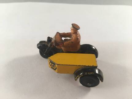 VINTAGE Toy Motorcycle With Sidecar