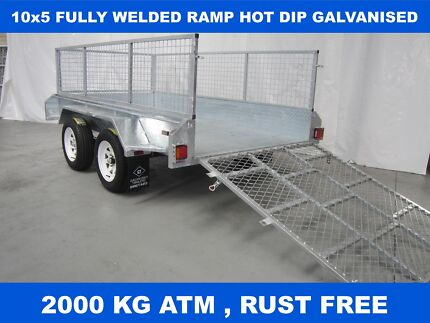 10x5 RAMP FULLY HOT DIP GALVANISED TRAILER