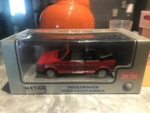 1/18 DIECAST SUNSTAR VOLKWAGEN RABBIT/GOLF OPEN CONVERTABLE RED