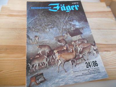 Sach Niedersächsischer Jäger - 24/86 (54 pg/ GB) LANDBUCH VERLAG 1 Seite fehlt!!