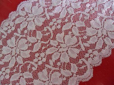 White Border Trim (Lace Trim WHITE elastic 15cm wide Border great offer #N 07 EN)