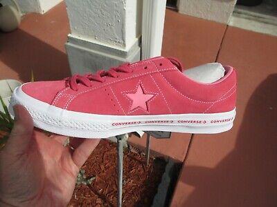 Converse ONE STAR PARADISE PINK GERANIUM  SUEDE 159815C SIZE 13 NEW NO BOX