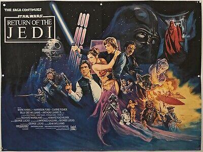 Star Wars - Return Of The Jedi Original British Quad Movie Poster 1983