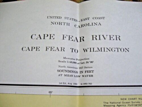 NAVIGATIONAL MAP - CAPE FEAR RIVER - NC - CAPE FEAR TO WILMINGTON # 11537