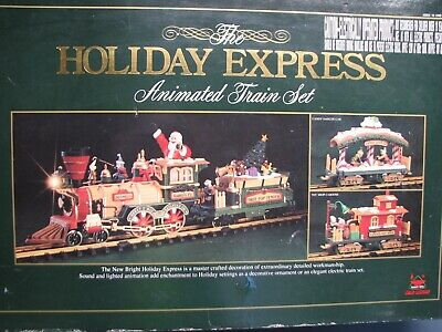 New Bright 380 Holiday Express Christmas Electric Animated Train Set G ga 1996