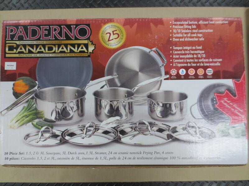 Paderno 10-Piece Cookware Set
