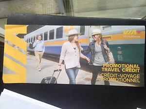 Via Rail voucher $250 asking $200