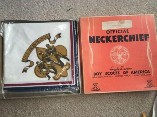 Boy Scout BSA 1776 1976 Bicentennial Troop Uniform Neckerchief Buy 12 Get Box