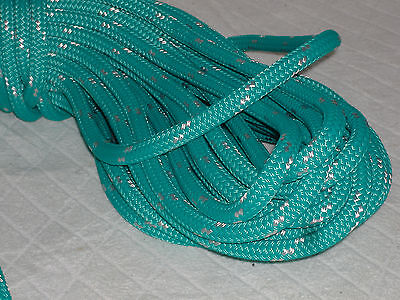 Double Braid Polyester Line 716x150 Ft Yacht Braid Teal Green W Tracer Halyard