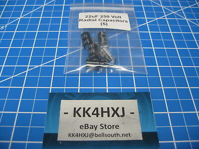 Radial Electrolytic Capacitors - 250v 22uf - Imported - 5 Pieces