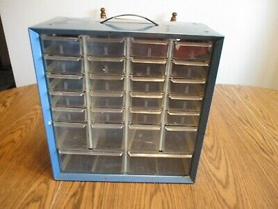 Vintage Blue Akro-mils Akro Mils 26 Drawer Metal Cabinet Storage Nuts Bolts