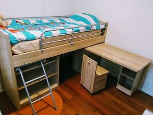 Top Bunk Single Bed, the gorgeous Bailey  from Harvey Norman Kippa-ring Redcliffe Area Preview