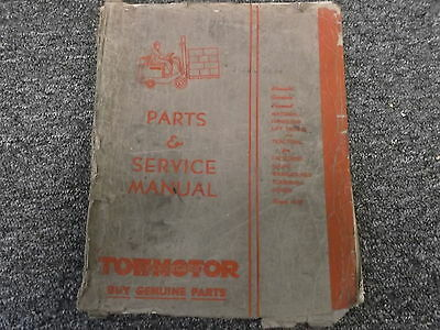 Towmotor Lt-62 Forklift Lift Truck Factory Original Parts Catalog Manual