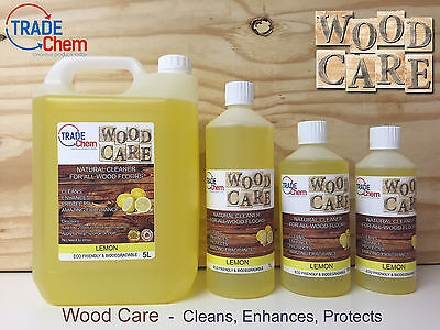 Wood Care - Natural Cleaner & Protector for Wood Floors and Laminate - Lemon