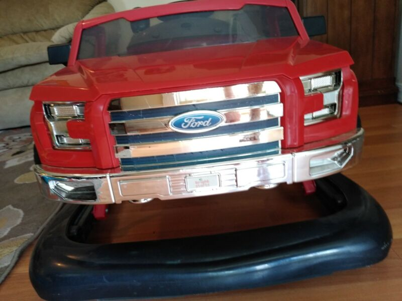 Bright Starts - 3 Ways To Play - Ford F150 Truck - Baby Walker, Red