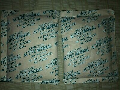 Pack Of 2 3.2 Oz Each Silica Gel Desiccant Pack Dry Packets Moisture Absorber