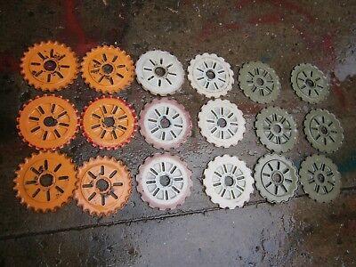International Ih Planter Seed Plates Lot Lustran Planter Discs