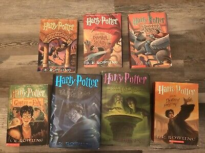 Harry Potter Books 1-7 by J. K. Rowling (Mixed Set) Very Good Condition