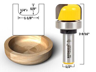 1-18 Diameter Bowl Tray Template Router Bit - 12 Shank - Yonico 14959