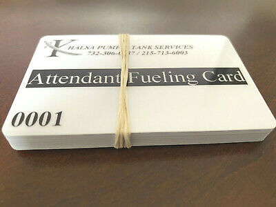 Attendant Card Fueling Cards Verifone - Pack Of 10 Cards