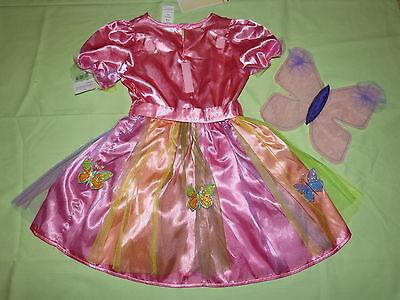 TTERLING+FLÜGEL PRINZESSIN KOSTÜM Elfe 92-98-104-116-122-128 (Regenbogen Fee Prinzessin Kostüm)