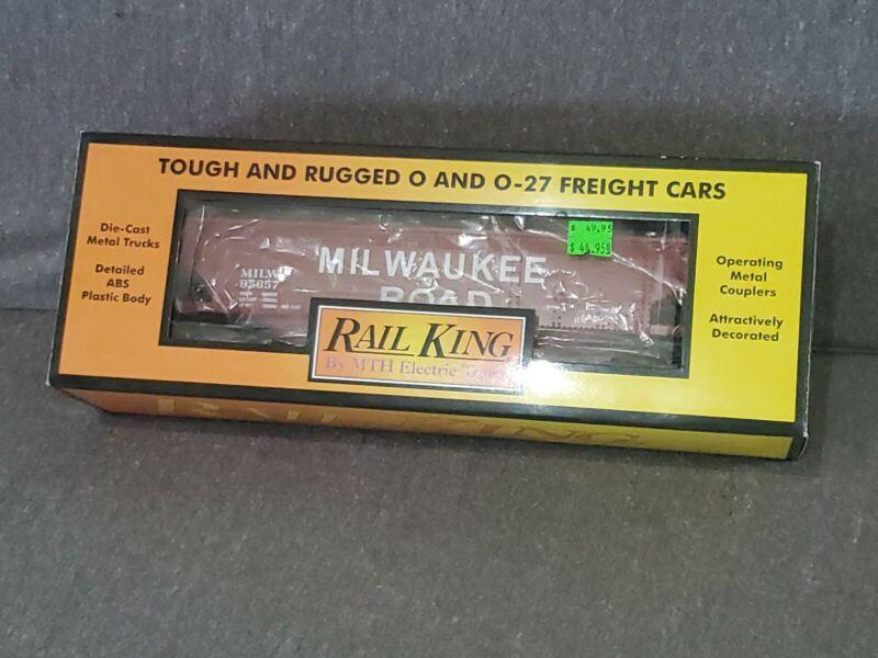 NIB Rail King 30-75496 Milwaukee Road 4 Bay Hopper Car With Coal Load Ships Free