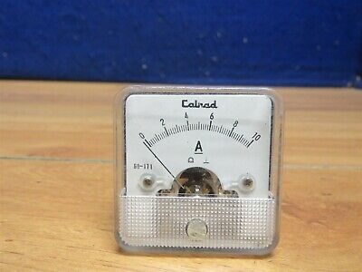 Vintage Calrad Made In Japan 60-171 Panel Meter 0-10 Amp 592171