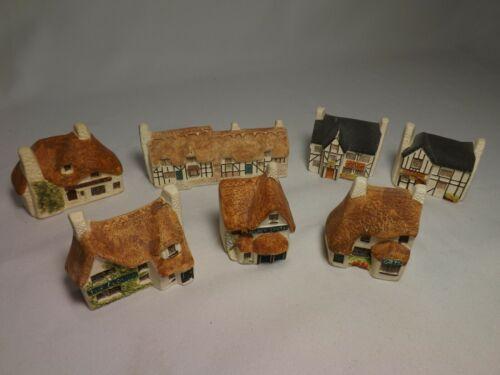 Vintage Set 7 PHILIP LAURESTON Ceramic Miniature Shops UK ENGLAND Country Villa