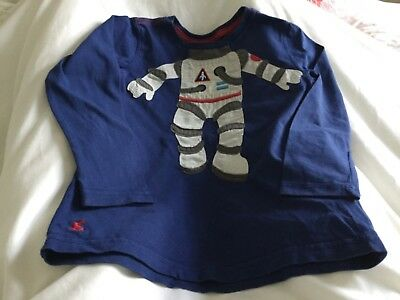 Joules navy Spaceman Top, age 5 - 6 years